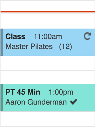 personal trainer scheduling app for fitness classes