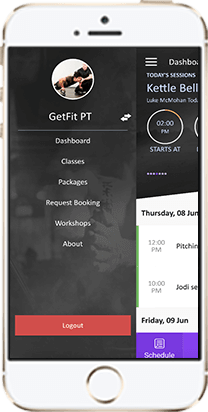 gym management software on mobile and desktop app