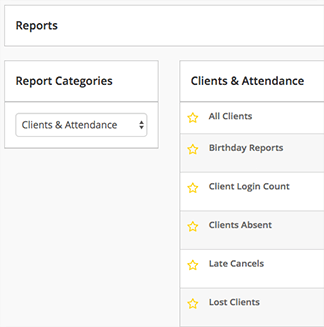 gym management software reporting
