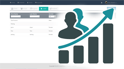 software for personal trainers lead management feature