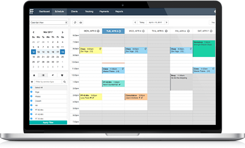 personal trainer app for scheduling client reservations